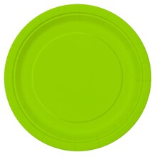 "7"" Neon Green Party Plates, 20ct"